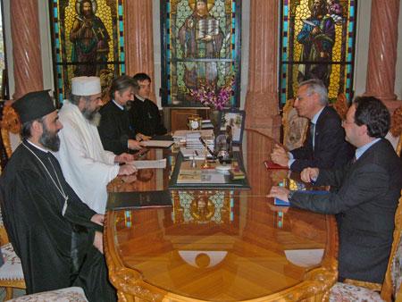 PF Parinte Daniel l-a primitin vizita Ambasadorul Italiei pentru Romania si Republica Moldova