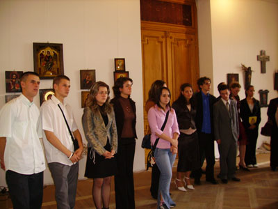 Expozitia elevilor de la Bistrita