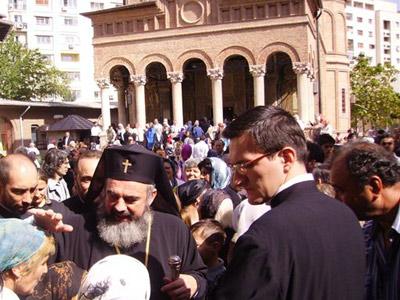 IPS Mitropolit Daniel, Patriarh ales al Bisericii Ortodoxe Romane, alaturi de credinciosi la Manastirea Antim