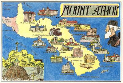 Harta Muntele Athos