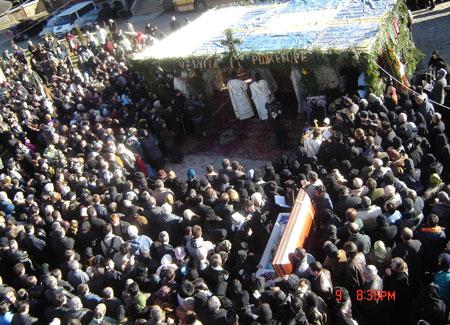 Inmormantarea Pr. Calciu