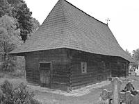 Biserica Veche de lemn a Putnei - mancata de un jder
