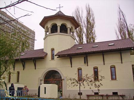 Biserica Doamna Oltea din Bucuresti in zi de sarbatoare