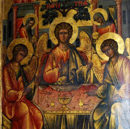 Manastirea Cozia - Icoana hramului: Sfanta Treime