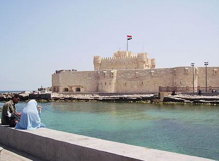 Locul unde se ridica Farul din Alexandria