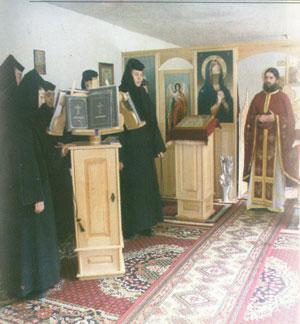 Schitul Fenes - Moment din timpul Sfintei Liturghi