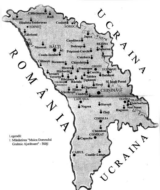 Harta Manastirilor Din Basarabia