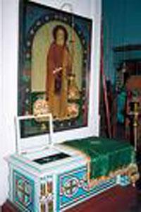 Manastirea Valaam - racla cu Sfintele Moaste