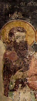 Sfantul Naum de Ohrida - fresca din <a href='/biserica-in-lume/67751-manastirea-sfantul-naum-ohrida' _fcksavedurl='/biserica-in-lume/67751-manastirea-sfantul-naum-ohrida' title='Manastirea Sfantul Naum - Ohrida' class='linking auto'>Manastirea Sfantul Naum</a>