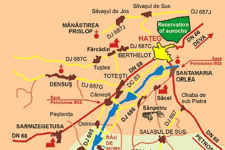 Manastirea Prislop - harta