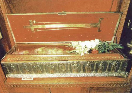 Racle realizate pentru moastele Sfantului Grigorie Decapolitul