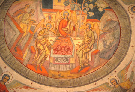 Fresca cu Sfanta Treime din Manastirea Rogoz