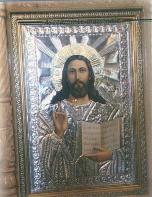 Icoana Mantuitorului(ferecata in argint)