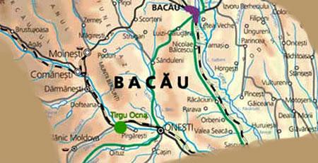 Targu Ocna - localizare pe harta