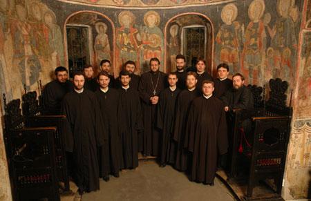 Biserica Stavropoleos - grupul psaltic