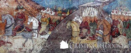 Asediul Constantinopolului - Manastirea Moldovita