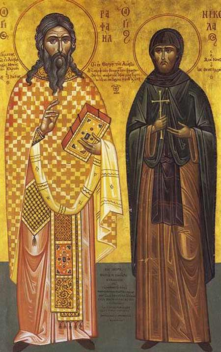 Sfantul Rafail si Sfantul Nicolae de pe colina Karyes - Thermi - Lesbos
