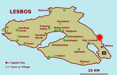 Localitatea Thermi - insula Lesbos