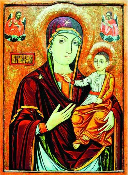 Manastirea Nicula - icoana Maicii Domnului cu Pruncul