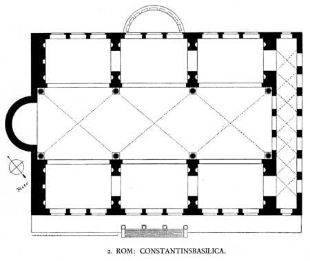 Basilica lui Maxentiu si a lui Contantin - Roma, Italia