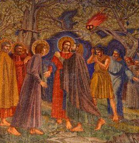 Gradina Ghetsimani - Vinderea si Sarutarea lui Iuda