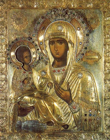 Maica Domnului Tricherousa - Manastirea Hilandar