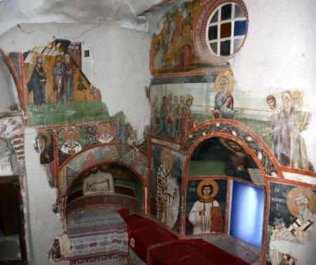 Manastirea Leimonos - fresca din tainita