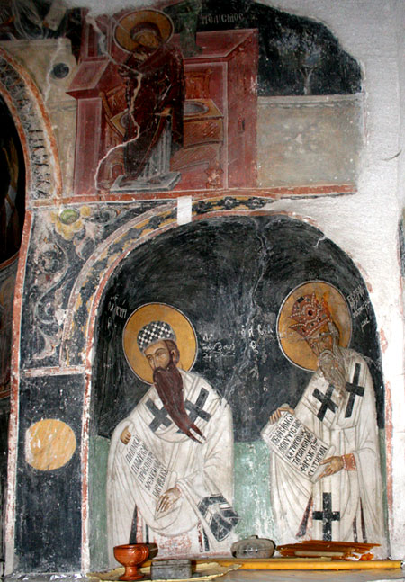 Manastirea Leimonos - biserica din cimitir