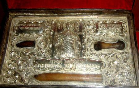 Moastele Sfantului Mare Mucenic Gheorghe - aflate in biserica din Lodd