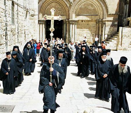 Biserica Sfantului Mormant- procesiune