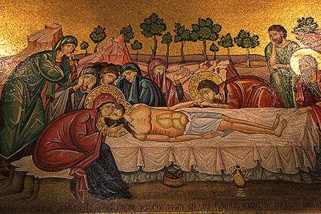 Biserica Sfantului Mormant - mozaicul de la Piatra Ungerii