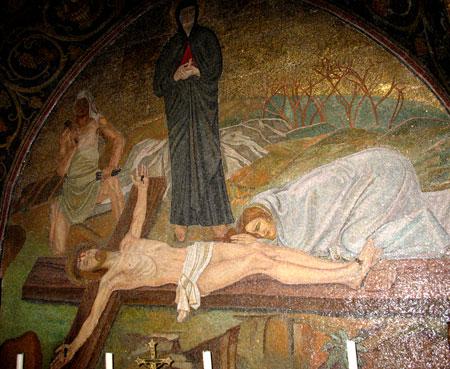Biserica Sfantului Mormant - mozaicul de pe Golgota