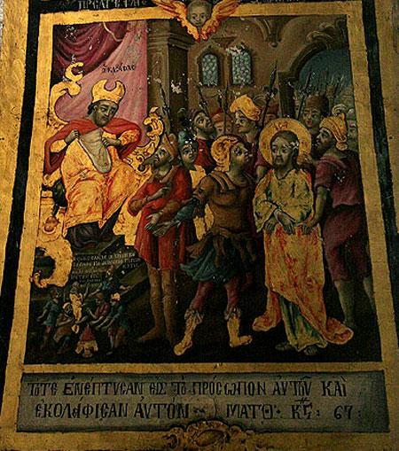 Biserica Sfantului Mormant - fresca de pe Golgota