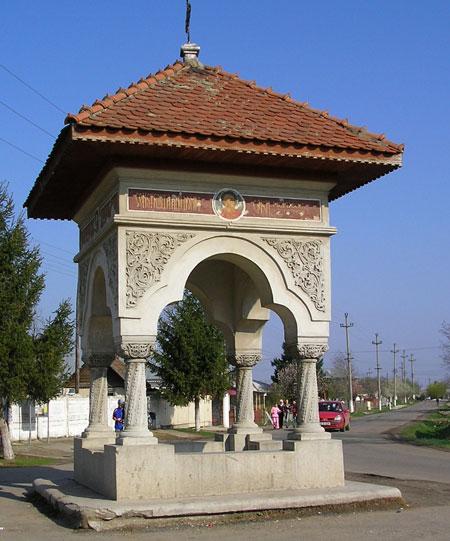 Manastirea Plataresti - troita din sat