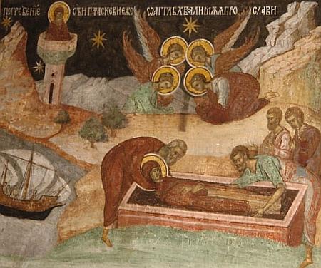 Inmormantarea in Epivata - Moastele Sfintei Parascheva