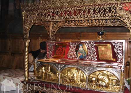 Manastirea Secu - Moastele  Sfantului Varlaam al Moldovei