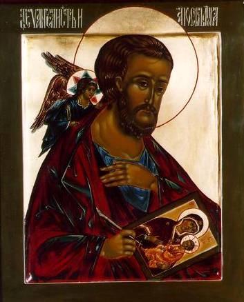 Sfantul Evanghelist Luca pictand