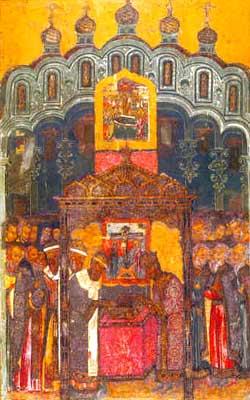 Manastirea Adormirea Maicii Domnului - Punerea in racla a Camasii