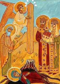 Gasirea mormantului Sfintei Sidonia si a Camasii lui Hristos