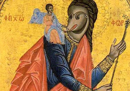 Sfantul Mucenic Hristofor - imbinare a celor doua reprezentari