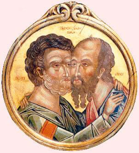 Imbratisarea Sfintilor Apostoli Petru si Pavel