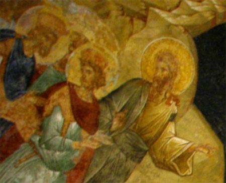 Sfantul Ioan Botezatorul propovaduind celor din iad