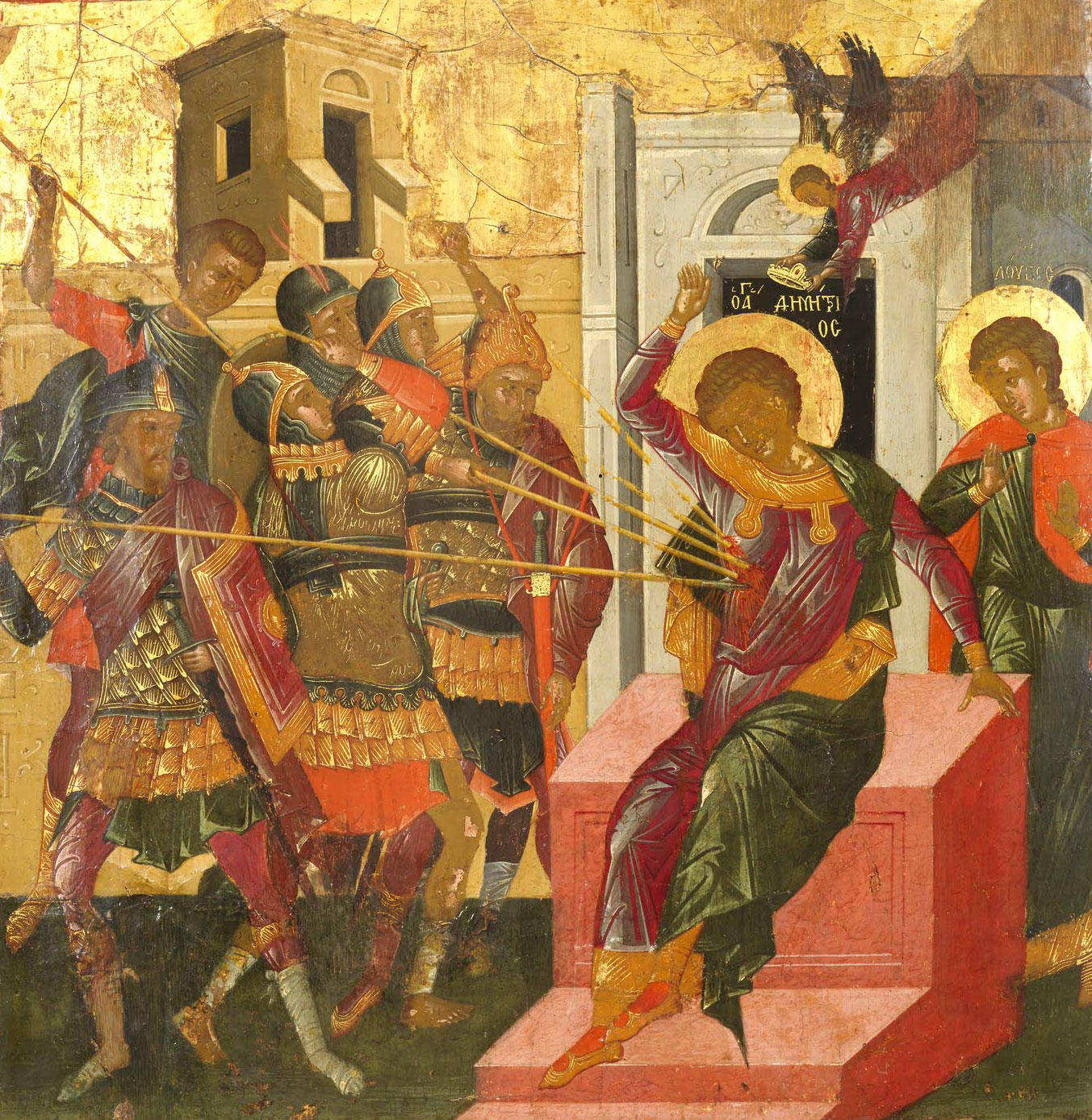 Martiriul Sfantului Dimitrie in iconografie