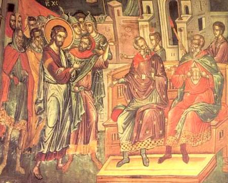 Patimile lui Hristos - fresca de la Meteora