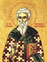 Sfantul Sofronie, patriarhul Ierusalimului; Inceputul Postului Sfintelor Pasti. Zi aliturgica. Canonul cel Mare