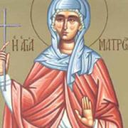 Sfanta Mucenita Matroana din Tesalonic (Denia Acatistului Bunei Vestiri)