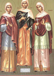 Sfintele Mucenite Agapi, Hionia si Irina;