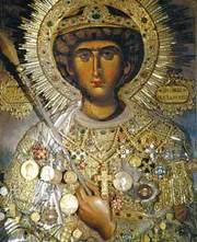 Icoana Sfantului Gheorghe de la Manastirea Zografu