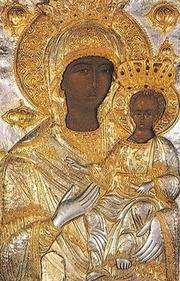 Icoana Maicii Domnului Indrumatoarea de la Manastirea Xenofont - Hodighitria