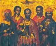 Sfintii cinci Martiri din Sevasta - Eustatie, Auxentie, Evghenie, Mardarie si Orest